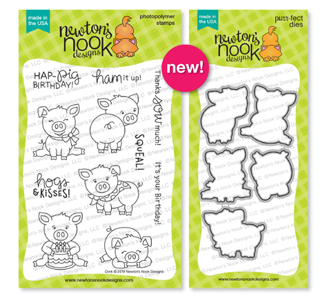 Oink | Pig Stamp Set by Newton's Nook Designs #newtonsnook