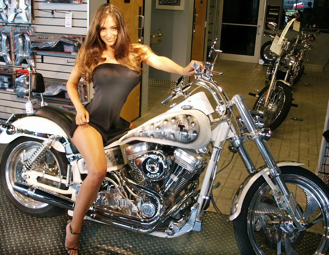 Motorcycles And Lovely Ladies Rusty Knuckles Motors