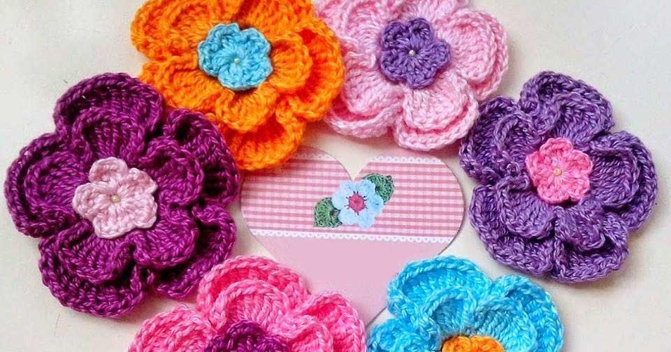 Crochet Patterns For Yarn : Cute Flowers - Pattern - Crochet Yarn Online