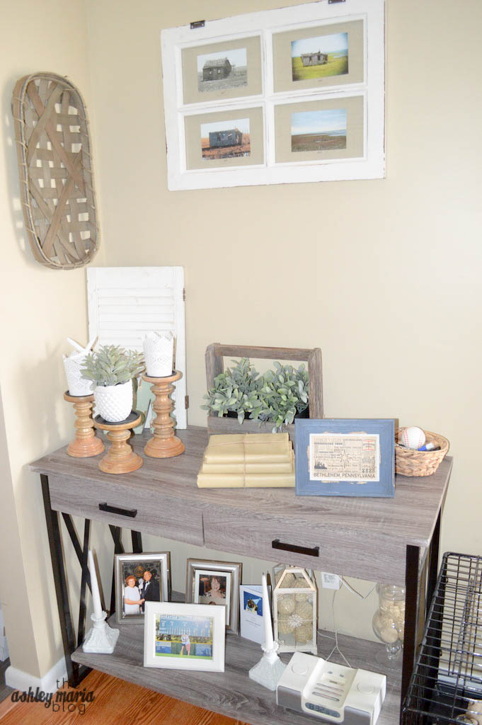 Amazing Console Table Basket Hobby Lobby Window Pane Frame Vintage Smaller Frames Ikea Michaelus Shutter Wood Candle Holders With