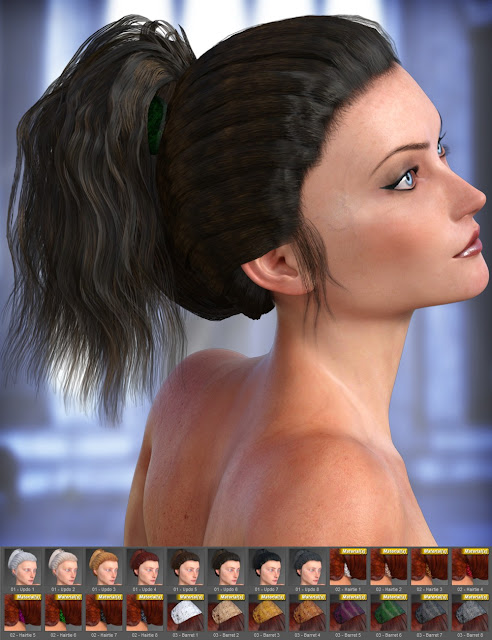 Lady Rune Updo for Genesis 3 Female and Genesis 2 Female