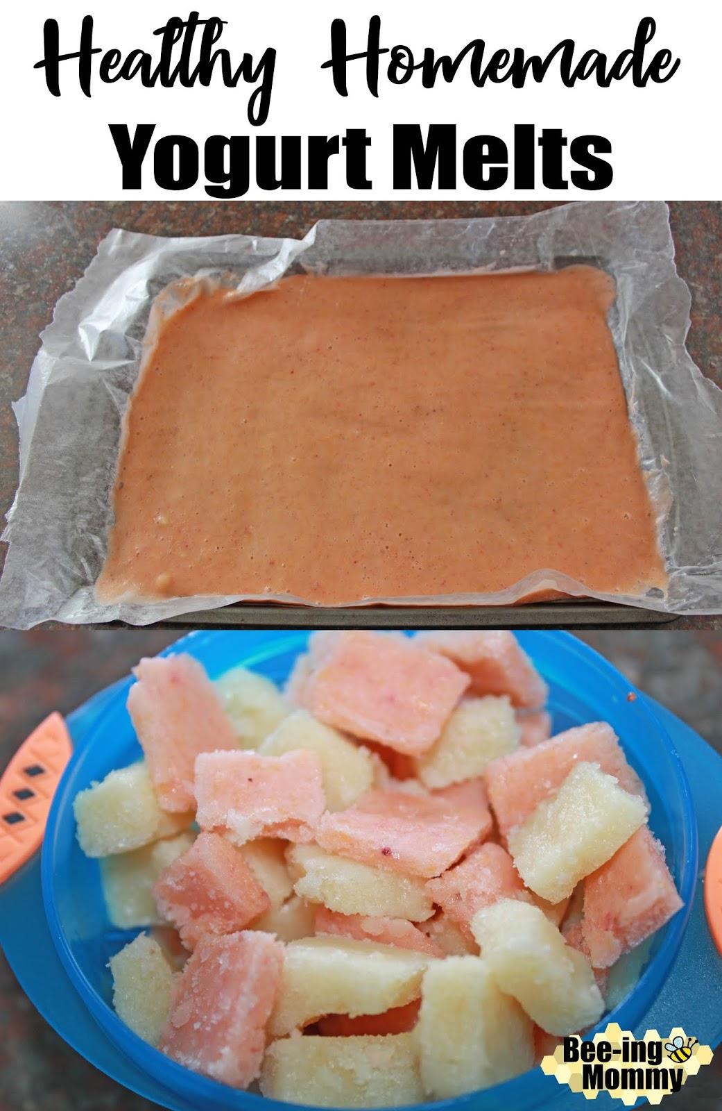 Bee Ing Mommy Blog Healthy Homemade Yogurt Melts Recipe