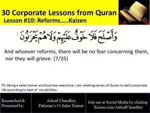 Reforms... Kaizen