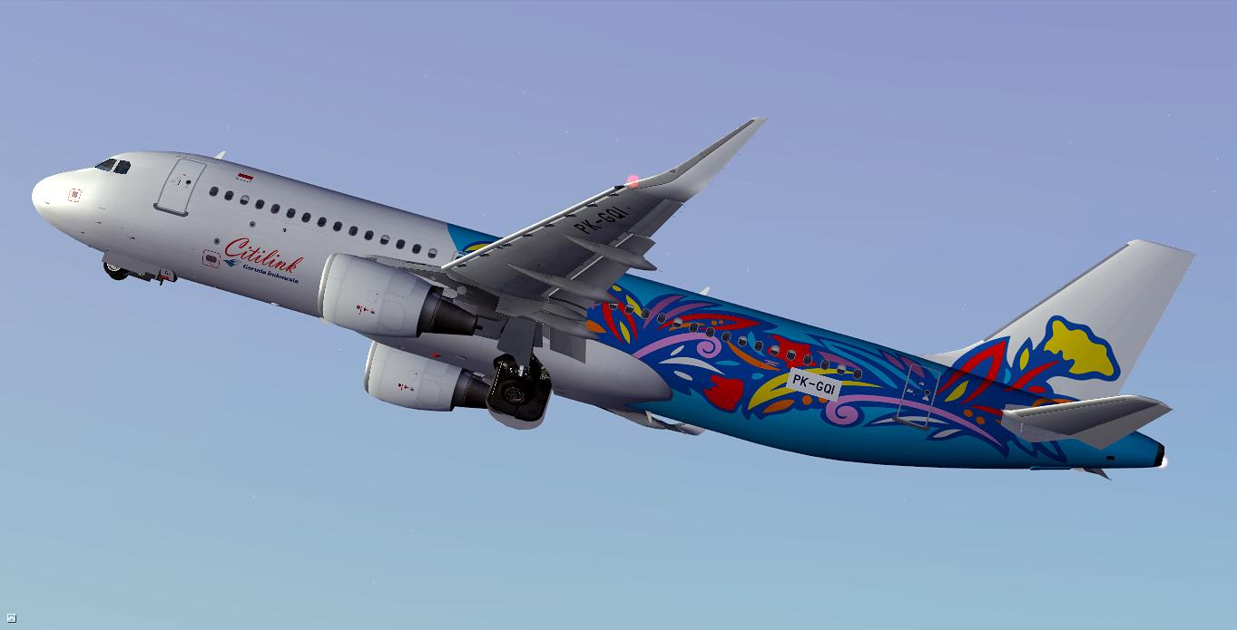 Airbus A320-214(SL) / Citilink Garuda Indonesia / PK-GQI / Retro