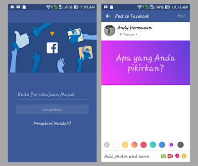 Cara Update Status Facebook Pakai Background Berwarna