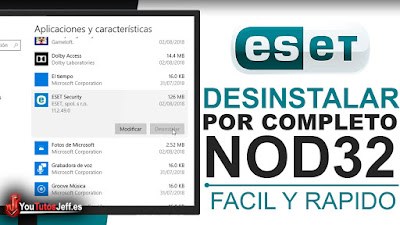 como desinstalar eset nod32 de windows
