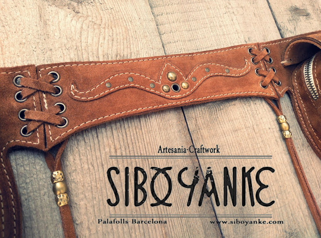 Leather Utility Belt - Festival belt with Gemstones. Sibo Yanke leather Craftwork