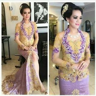 Gaun Kebaya Batik Modern