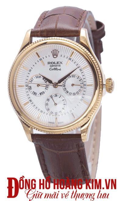 đồng hồ nam rolex dây da giảm giá chính hãng