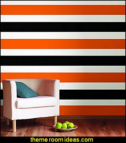 Orange Stripe wall stickers striped wallpaper  stripes on walls - striped decorating ideas - stripe wall decals - stripes bedding - stripes wallpaper - stripe theme baby nursery - decorating with stripes - striped rooms - painted stripes - striped walls - stripe bedding - stripe pillows - striped decorations