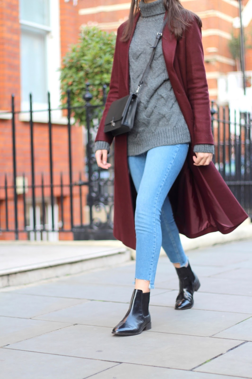 winter peexo roll neck jeans