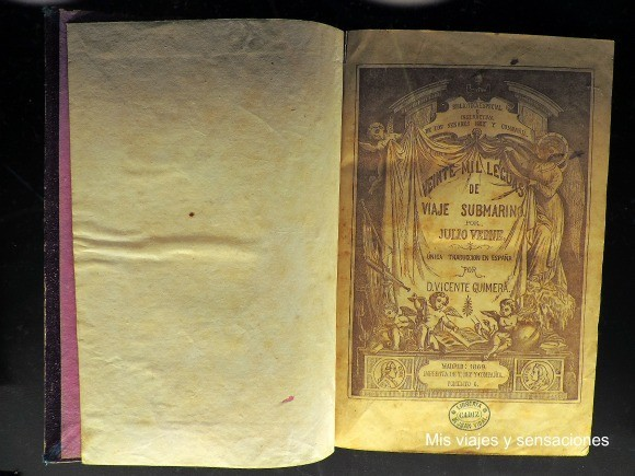 Libro Veinte mil leguas de viaje submarino, Julio Verne