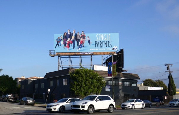 Single Parents cut-out billboard