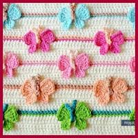 Punto mariposas a crochet