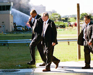 Donald Rumsfeld at the Pentagon on September 11