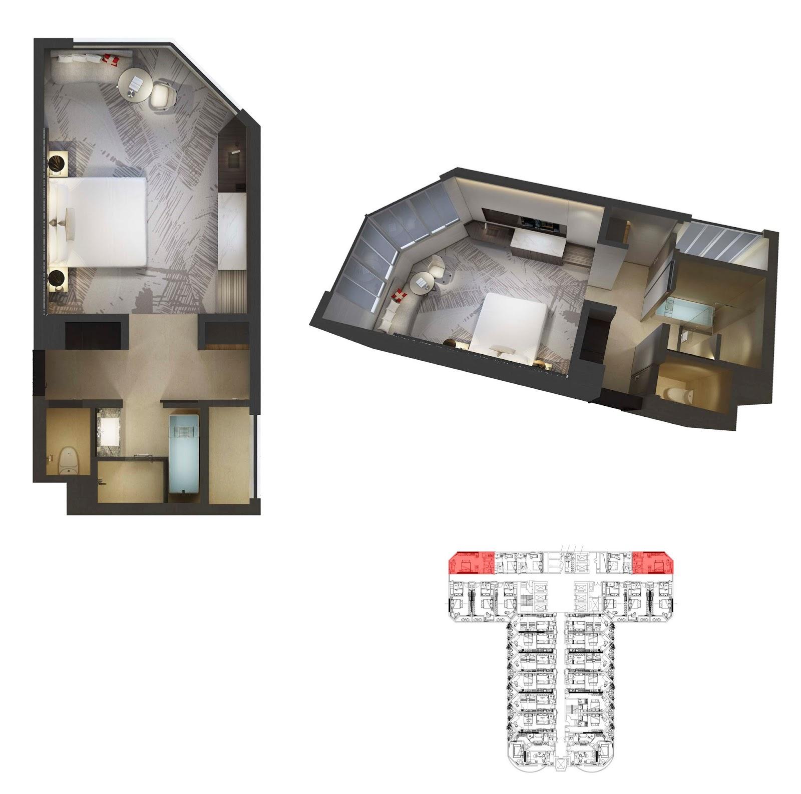 Mặt bằng thiết kế căn hộ 15 La Luna Resort
