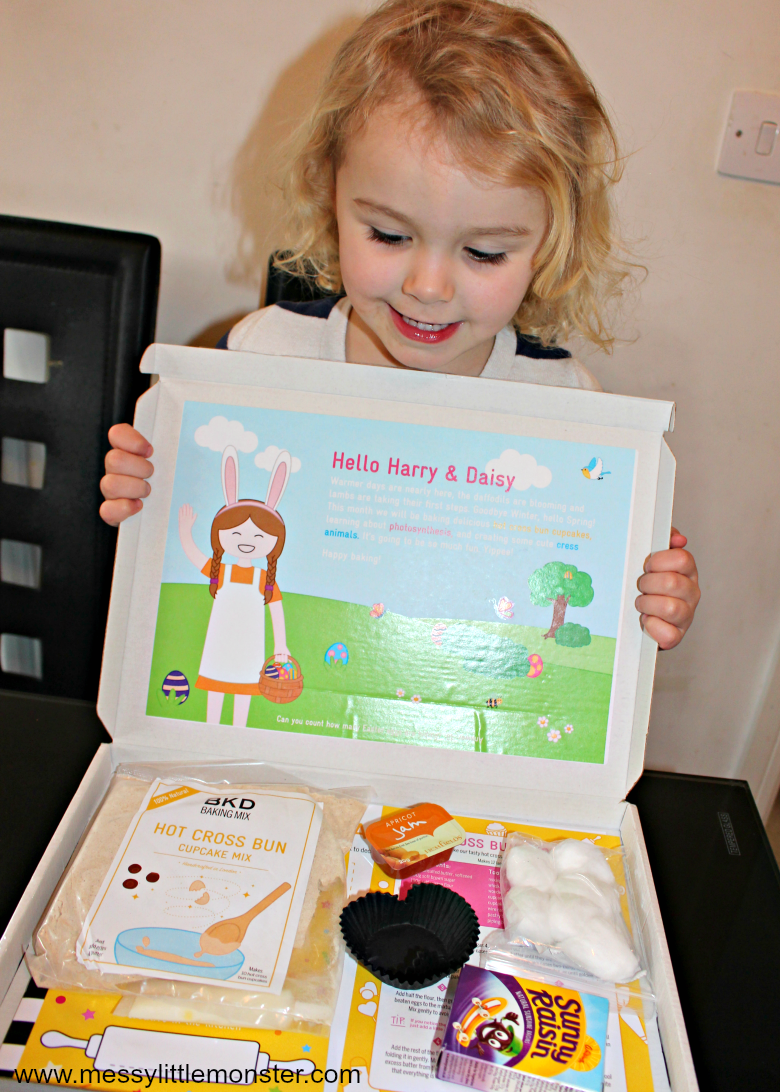 Baking for kids subscription box. A monthly baking and craft subscription kit from BKD. Easy cooking for young children personalised and delivered through your letter box. Ideal for preschoolers and kids aged 3-10 years.