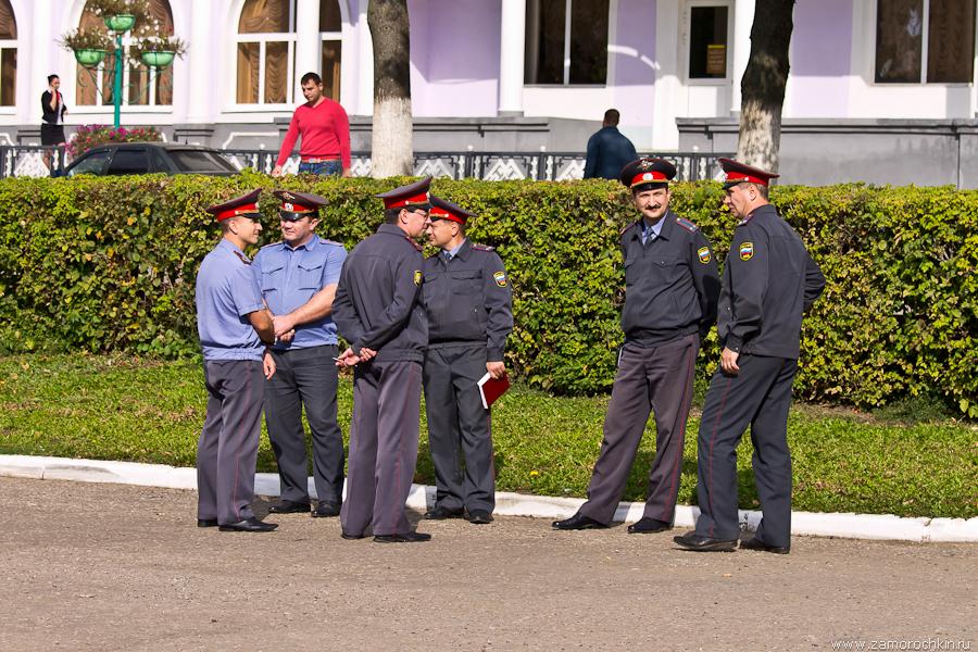 Полиция на митинге коммунистов в Саранске