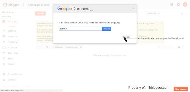 melewati proses pembelian domain dari google