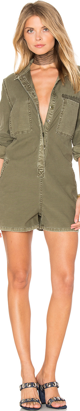 CURRENT/ELLIOTT THE REVERSED MILITARY ROMPER