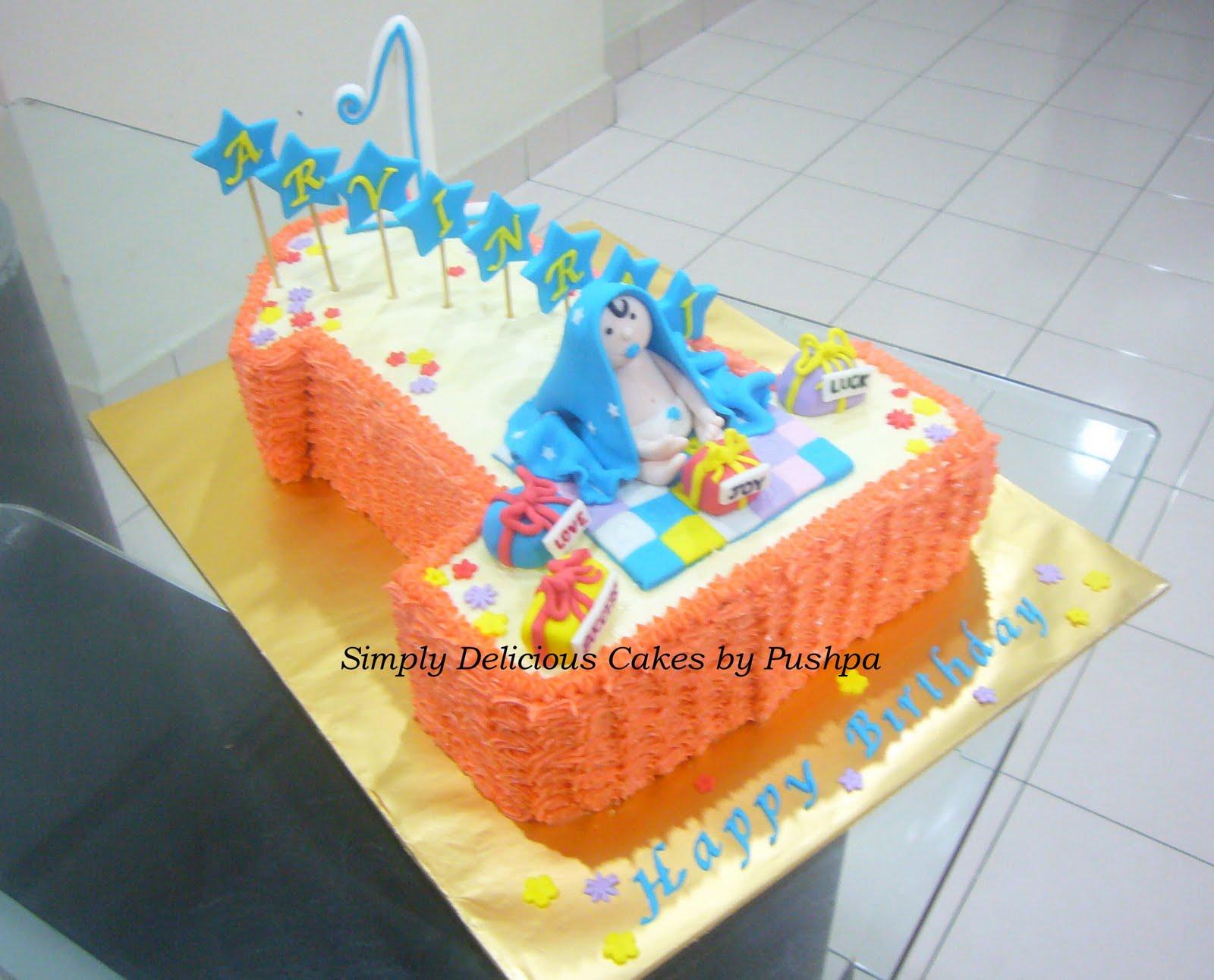 Simply Delicious Cakes Arvin Raj 1st Birthday