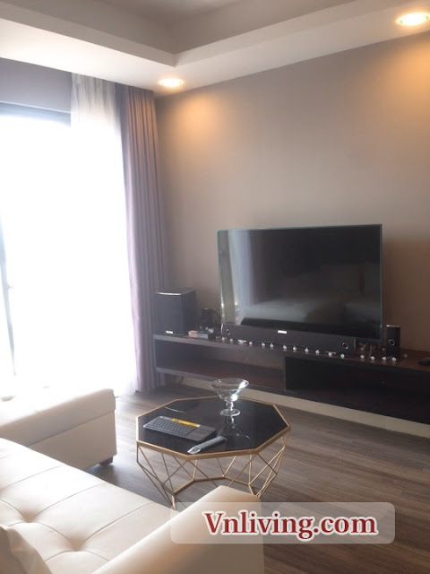 Living room Masteri Thao Dien apartment for rent morden furniture