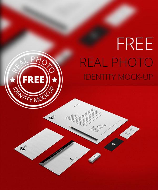 Real Photo Identity PSD Mock-Up