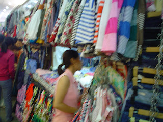 Market clothing stall in Saigon (Ho Chi Minh City)