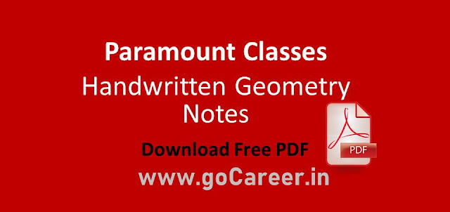 Paramount Classes Handwritten Geometry Notes