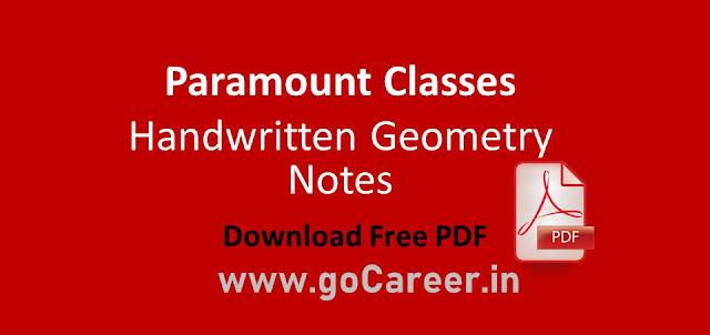 Paramount Classes Handwritten Geometry Notes