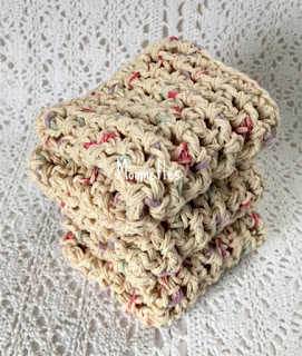 Handmade Kitchen Dish Cloths Beige Dish Cloths