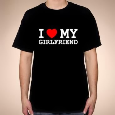 I love my girlfriend koszulka czarna