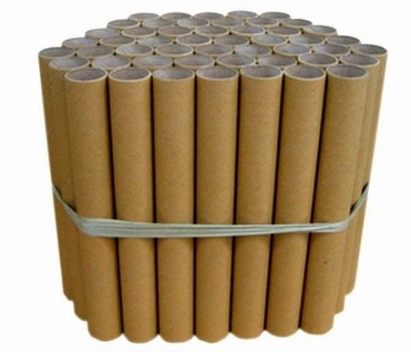 Manualidades recicladas con tubos de papel film