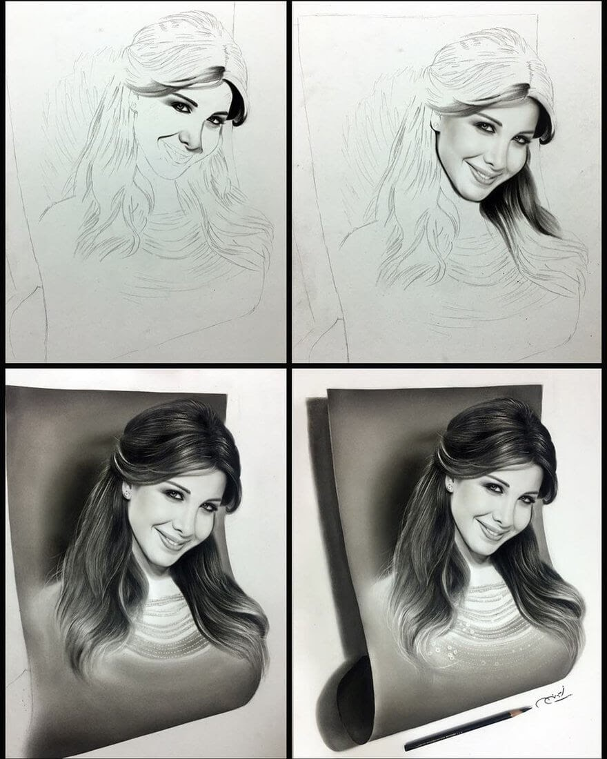 11-WIP-Aymanarts-Realistic-3D-Illusion-Portrait-Drawings-www-designstack-co