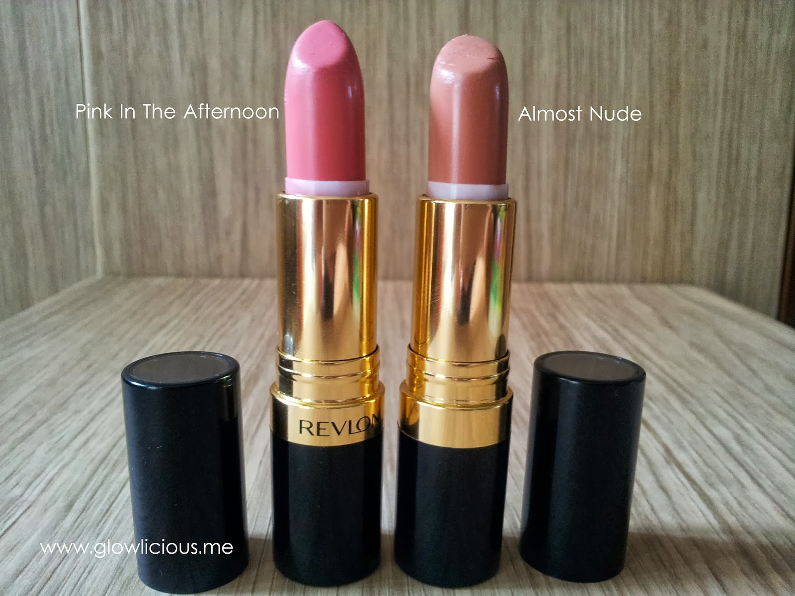 Revlon Super Lustrous Lipstick in Almost Nude #117 & Pink