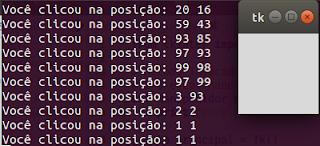 Event handling em Python
