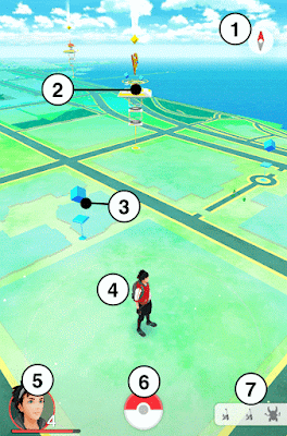 شرح قوائم وخيارات اللعبة الجديدة بوكيمون Pokémon Go للاندرويد
