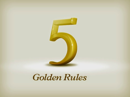 5 golden rules to combat life's knock backs!