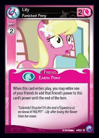 My Little Pony Lily, Panicked Pony Canterlot Nights CCG Card