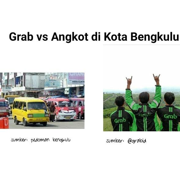Grab vs Angkot di Kota Bengkulu