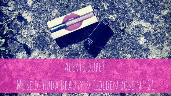Muse d'Hude Beauty et n°21 de Golden Rose