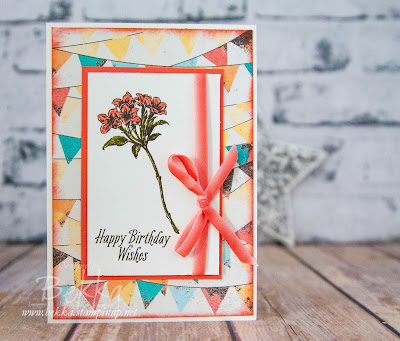 Happy Birthday Avant Garden Floral Card made using Stampin' Up! UK Supplies, which you can get here