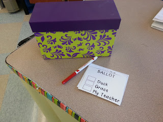 Election Day Activities for primary students- hands on crafts and a mock election for different book characters
