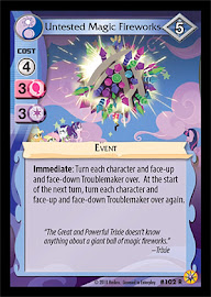 My Little Pony Untested Magic Fireworks Friends Forever CCG Card