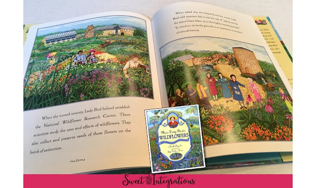 Lady Bird Johnson is responsible for all of the beautiful wildflowers we see in the Texas hill country. Learn more about the Lady Bird Wildflower Center and her beautifully illustrated book.