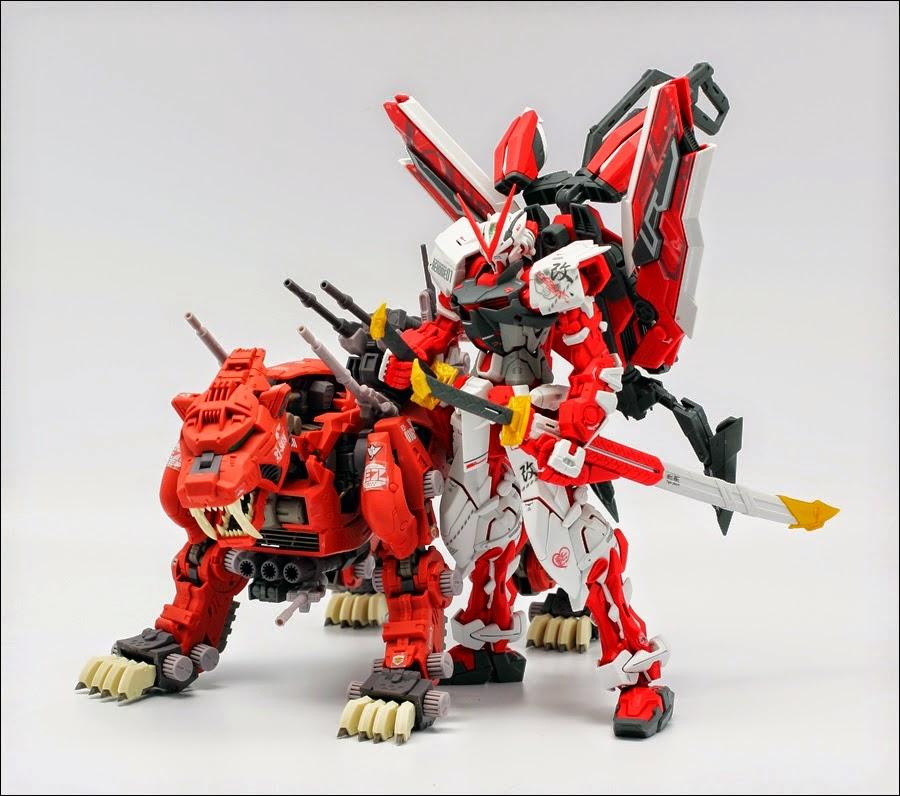 Gundam Family Mg 1 100 Gundam Astray Red Frame Kai With Zoids