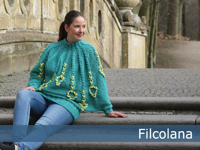 Free knittng pattern for cabled poncho - Charlotte Kaae for Filcolana. www.bykaae.dk