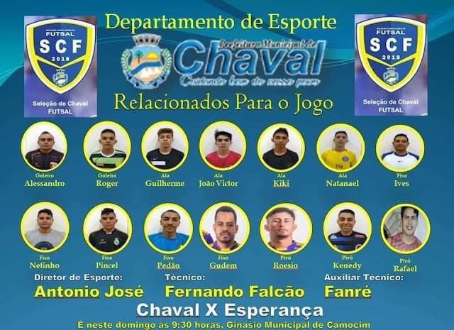 Seleção Chavalense de futsal estreia em Camocim nesse domingo