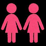 性別記号のイラスト(女性・女性のマーク)