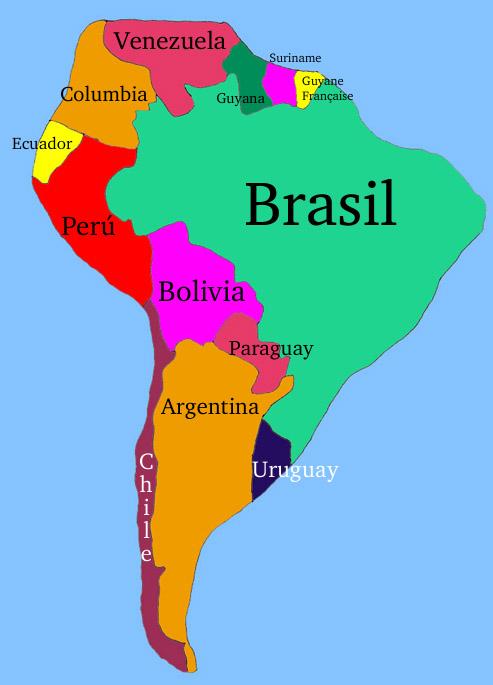 america south america map quiz